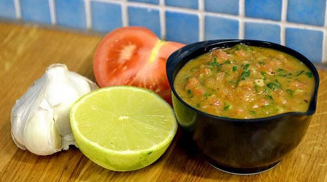 Mexikansk tomatsås med lime